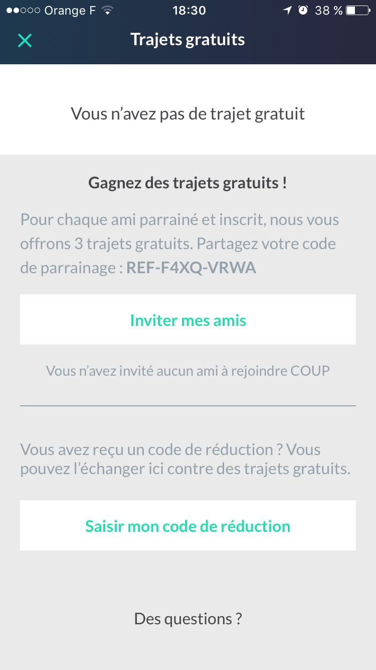 saisir code reduction